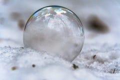 Des autres vue étroite de la réflexion des arbres dans la bulle de savon Photographie stock libre de droits