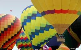 Des ballons à air plus chauds images stock