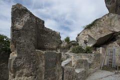 DES Baux, France de Château Photographie stock libre de droits