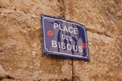 DES bisous, palazzo del posto dei baci fotografia stock libera da diritti