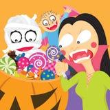 Des bonbons ou un sort Image stock