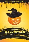 Des bonbons ou un sort de monstre de sorcière de potiron d'affiche de partie de Halloween Photos stock