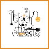 Des bonbons ou un sort Halloween heureux Photo stock
