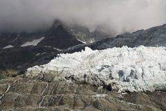 DES Bossons del ghiacciaio Alpi francesi Chamonix-Mont-Blanc Fotografie Stock Libere da Diritti