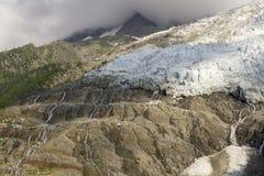 DES Bossons del ghiacciaio Alpi francesi Chamonix-Mont-Blanc Fotografia Stock