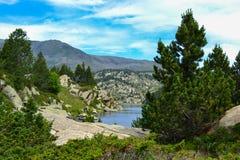 DES Bouillouses et Lacs du Carlit de laque photos stock
