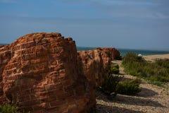 des briques dans le mur - voir la côte Photographie stock libre de droits