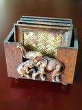 Des caboteurs ont été faits en en bois et en bambou Image stock