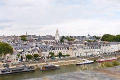 Des Carmes набережной в Anges, Франции Стоковые Изображения RF