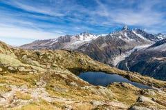 DES Cheserys de laque et chaîne de montagne - France Photographie stock libre de droits