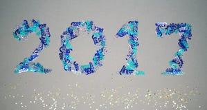 2017 des confettis Photos libres de droits