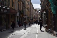 DES Cordeliers, Aix-en-Provence, fin de l'après-midi de rue de Frances images stock