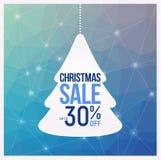 Des couleurs bleues d'insectes de vente d'arbre de Noël, peuvent être employées comme affiche ou bannière Image libre de droits