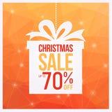 Des couleurs oranges d'insectes de vente de cadeau de Noël, peuvent être employées comme affiche ou bannière Image stock