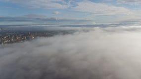 Des Daugavafluß Zakusala-Insel-Rauchwolken-Inselluftbrummens Rigas Lettland Draufsicht lizenzfreies stockbild
