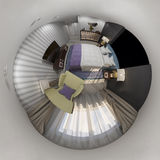 des Design-Innenraums 360 der Wiedergabe 3d nahtloses Panorama Lizenzfreie Stockfotografie
