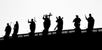 Des die Kolonnade Vatikans Berninis in Rom lizenzfreie stockfotos