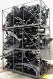 Des die Sto?d?mpfer und die Armaturenbretter Autos sind f?r Beseitigung vorbereitet worden verlust deformation Gespeichert in den lizenzfreies stockbild