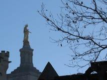 DES Doms et Mary, Avignon, Provence, France de Notre-Dame de cathédrale photo libre de droits