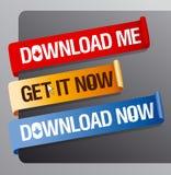 Des Downloads Farbbänder jetzt. Lizenzfreies Stockfoto