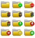 Des dépliants réglés - arrêtez et allez les dépliants 15 d'applications Photos libres de droits
