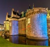 Des Ducs de Бретань замка в Нанте, Франции Стоковые Изображения RF