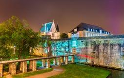 Des Ducs de Бретань замка в Нанте, Франции Стоковые Изображения
