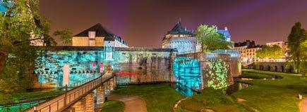 DES Ducs de Bretaña del castillo francés en Nantes, Francia Fotos de archivo