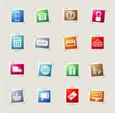 Des E-Commerce Ikonen einfach Stockfotografie