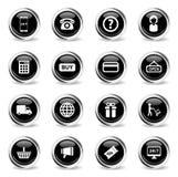 Des E-Commerce Ikonen einfach Stockbild