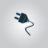 Des elektrischen flache Ikone Stecker-Netzes des Vektors Stockbild