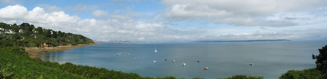 DES Espagnols di Pointe e costa di mare in Bretagna Fotografie Stock Libere da Diritti
