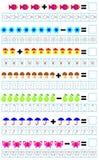 Des exercices pour des enfants - devez résoudre des exemples et peindre le nombre de correspondance d'objets Photos stock