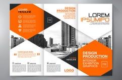 Des Faltenflieger-Designs a4 der Broschüre 3 Schablone Lizenzfreies Stockfoto