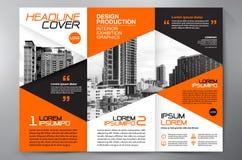 Des Faltenflieger-Designs a4 der Broschüre 3 Schablone Stockfotografie