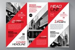 Des Faltenflieger-Designs a4 der Broschüre 3 Schablone Stockbilder