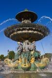 DES Fleuves de Fontaine, quadrado de Concorde, Paris Imagem de Stock Royalty Free