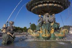 DES Fleuves, place de Concorde, Paris de Fontaine Photos libres de droits