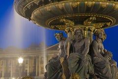 DES Fleuves, place de Concorde, Paris de Fontaine Images libres de droits