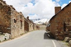 DES Fourches, ruines militaires, Alpes maritimes, Frances de camp photo libre de droits