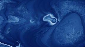 Des Gegenstandraumes der Acrylfarbe des Zusammenfassungsnachttiefen blauen Hintergrundes schwarzes helles unbekanntes weißes Unte lizenzfreie stockbilder