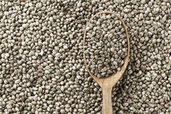 Des graines de chanvre sont dispersées comme fond Image stock