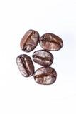 Des grains de café rôtis peuvent être employés comme fond Images libres de droits