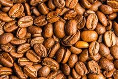 Des grains de café rôtis, peuvent être utilisés comme fond Photographie stock