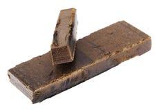 Doigt d'isolement de hachish - 10 et 20 grammes Photos stock