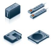 Des graphismes de matériel d'ordinateur réglés - concevez les éléments 55i Images stock