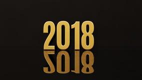 Des guten Rutsch ins Neue Jahr-2018 Illustration Text-des Design-3D lizenzfreie abbildung