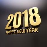 Des guten Rutsch ins Neue Jahr-2018 Illustration Text-des Design-3D Stockbild