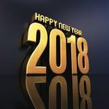 Des guten Rutsch ins Neue Jahr-2018 Illustration Text-des Design-3D Lizenzfreie Stockbilder