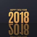 Des guten Rutsch ins Neue Jahr-2018 Illustration Text-des Design-3D Stockfotografie